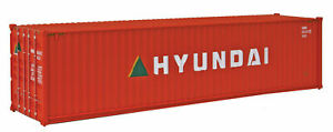 Walthers 40' Hi Cube Corrugated Side Container - Hyundai HO Scale