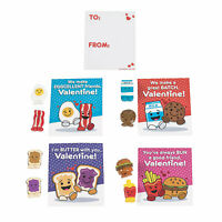 Mini Food Characters With Valentine'S Day Card - Toys - 12 Pieces