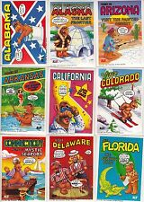 U.S. OF ALF 1987 ZOOT COMPLETE BASE STICKER CARD SET OF 50 TV US