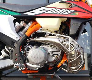 KTM Husqvarna  exhaust pipe guard  Diffusorschutz Cage  Muzzle