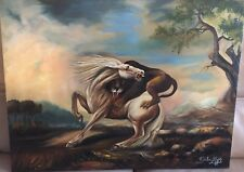 PAINTING ANIMAL GEORGE STUBBS LION ATTACKING HORSE ART PRINT LAH399A