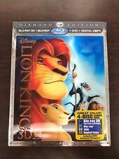 The Lion King 3D Blu-ray/DVD 4-Disc Set Diamond Edition w/Lenticular Sleeve, NEW