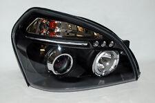 Black Halo LED DRL Projector Headlights FITS Hyundai Tucson 05-09 Pair RH LH