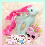 ❤️My Little Pony MLP G1 Vtg FLUTTER PONY PINK DREAMS Slumber Party Kitten Cat❤️