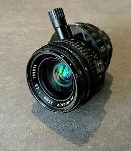 Nikon 35mm f2.8 PC-NIKKOR shift perspective control lens.