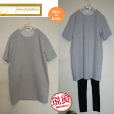 Japan made in Korea Women Fashion Design Grey Pearl Tee Tops Blouses T-shirt