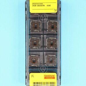 10 SANDVIK 345R-1305M-PH - Grade 4340 CNC Milling Coated Carbide Inserts