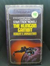 Star Trek Novel; The Klingon Gambit. Robert E. Vardeman. Pocket Book 1981. E-88