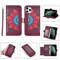 For iPhone 12 mini 11 Pro Max XS XR X Mandala Printing Leather Wallet Case Cover