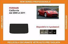 pellicola oscurante vetri Ferrari california dal 2009-2011 kit lunotto