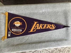 Vintage Los Angeles Lakers Forum Arena NBA Basketball Felt Full Size Pennant