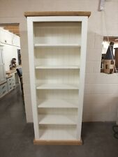 SHABBY PAINTED BOOKCASE ROUGH SAWN DISTRESSED BESPOKE COLOUR SIZE