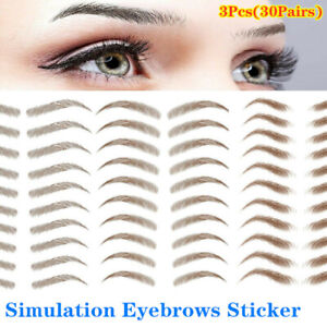 SIMULATION EYEBROWS TATTOO REAL STICKER FALSE EYEBROW WATERPROOF STICK ON MAKEUP