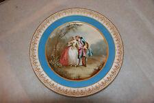 Sevres Porcelein Cabinet Plate Chateau Des Tuileries Mark Romantic 1844
