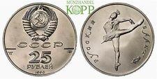 R889) RUSSLAND 25 Rubel 1990 - Russisches Ballett - Ballerina - Palladium
