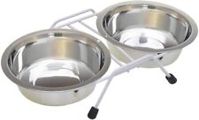 New listing Van Ness Double Cat Dish with Wire Rack, 16-Ounce Stainless Steel