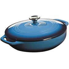 Cast Iron Casserole Dish With Lid LODGE Enamel Coated Skillet Pan Large Round
