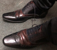 Used Mens Leather Multi Toned Dune London Work Formal Shoes Uk 9