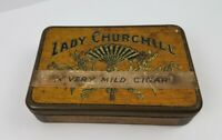 Vintage Lady Churchill Soberanos Pocket Humidor Cigar Tin