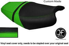Vinilo Negro Verde Claro Personalizado Para Kawasaki ZZR 1400 ZX14 06-11 Doble Cubierta de asiento