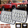 """Pair 7x6"""" 5X7"""" LED Sealed Crystal Clear Headlights for 90-97 Nissan Pickup 240SX"""