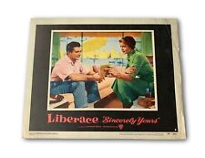 """""""LIBERACE SINCERELY YOURS"""" ORIGINAL 11X14 AUTHENTIC LOBBY CARD POSTER 1955"""
