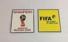 2018 World Cup Russia Qualifier Soccer Football Patch Badge Fair Play Set
