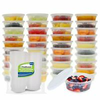Food Storage Containers [50 Pack] 8 oz Plastic Containers with Lids, Deli, Slime