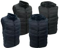 Mens Gilet Padded Body Warmer Warm Full Zip Pocket Quilted JACKET S-XXL 2 In 1