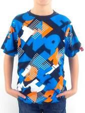O'Neill T-Shirt Shirt Kurzarmshirt Scabb blau Allover Muster Rundhals