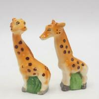 Vintage Giraffe Salt & Pepper Shakers Set