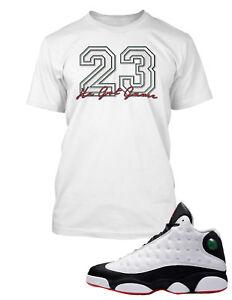 23 Tee Shirt to Match Air Jordan 13 He Got Game Shoe  Graphic Tee Big Tall SM