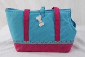 Douglas Paquette Walk The Dog Tote Carrier Bag Travel Pink Blue Flip Flop