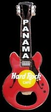 Hard Rock Cafe PANAMA Red Bottle Opener Guitar Magnet