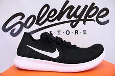 Nike Free RN Flyknit 2017 Run schwarz weiß grau Laufschuh 880843 001 SZ 15