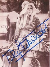 "Brigitte Bardot 1934- genuine autograph signed 3.5""x5.5"" photo"