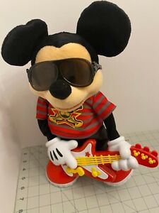 Disney Rock n Roll Star Mickey Mouse Toy w/ Guitar Animated Sings & Dances 2010