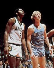 1979 Michigan State MAGIC JOHNSON vs Indiana State LARRY BIRD Glossy 8x10 Photo