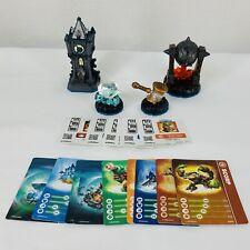 Skylanders Swap Force Figures Lot of 4 Cards Stickers / Codes Fiery Forge