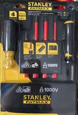 NEW  Stanley FatMax Insulated Screwdriver Set - 1000V - FMHT62286