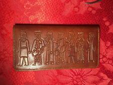 Genuine Leather Persian King Persepolis Farvahar Checkbook Wallet Iranian Gift