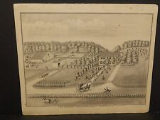 Ilinois Cass County Map Farm of Gottlieb Nollch 1874 !J15#07