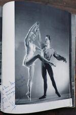 DANSE par Serge LIDO programme signé par Nina Vyroubova, Clavier & Renault 1949