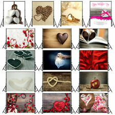 Heart-shaped Photography Background Studio Lovers Art Photo Backdrop 3x5ft/5x7ft