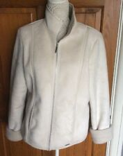 Ladies Faux Suede Jacket by Next Cream Size 16
