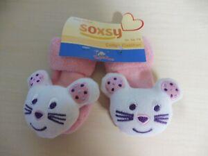 ♥ Topolino BabySocken  ♥  Süße Katzen ♥ Rosa - Neu