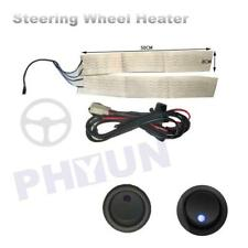 Universal Car Carbon fiber Heated Steering Wheel with round LED switch 18W