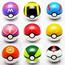 9Pcs / SET POKEMON POKEBALL POP-UP 7CM CARTONI ANIMATI plastica giocattolo palla