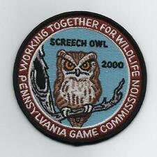 Screech Owl 2000 Penn Game Commission, Working Together For Wildlife Series