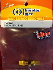 Thunder Tiger PV0832 Pinion 12 Tooth (2 Gears) Mini Titan E325 3D Heli